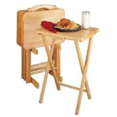 Essential Home 5-Piece Folding Snack Table