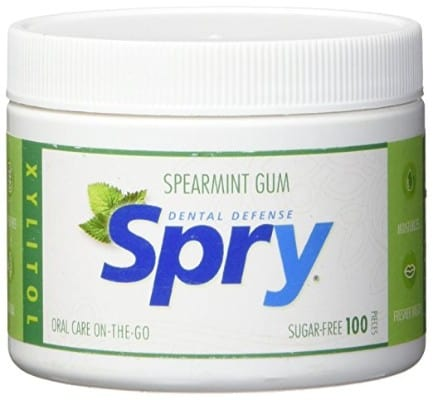 Spry Xylitol Gum, Natural Spearmint, 100 Count