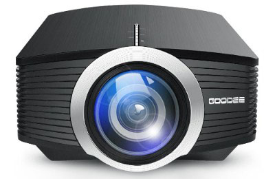 GooDee 1080p Mini Portable Projector 1800 Lumens