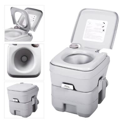 JAXPETY 5-Gallon_ 20-Liter Porta Potti Flush Portable Toilet