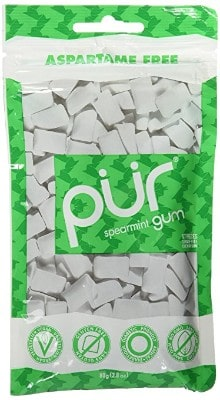 PUR Gum Spearmint, 2.82 Oz., 3 Bags