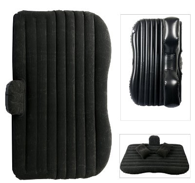YaeTact Inflatable Travel Car Bed, Black