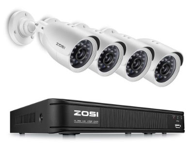 ZOSI 720P 8-Channel Home Security Camera System, 1080N HD-TVI CCTV DVR Recorder