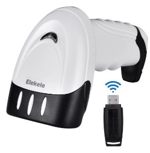 Elekele Handheld Barcode Scanner, Wired+Wireless USB Port Bar Cord Reader