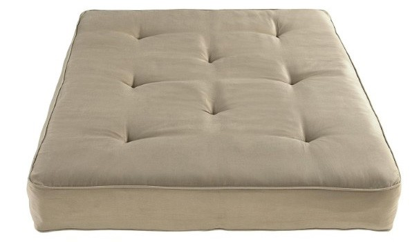 DHP Premium Full Size Futon Mattress with 8-Inch Independently-Encased Coil, Tan