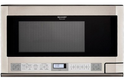 Sharp R-1214 Stainless Steel 1100-Watt Over-the-Counter Microwave, 1-1:2-Cubic Feet