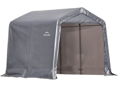 ShelterLogic Shed-in-a-Box, Peak, Gray