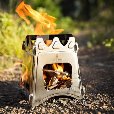 kampMATE WoodFlame Ultra Lightweight Wood Burning Stove