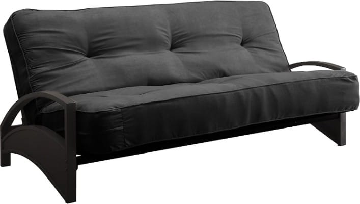 DHP Independently-Encased Coil Futon Mattress, 8-Inch, Full Size, Black