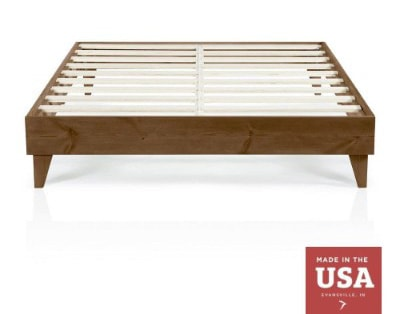 Cardinal & Crest Wood Platform Bed Frame, Walnut