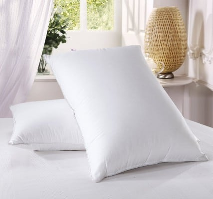 Royal Bedding 500 Thread Count Cotton Luxury down Pillow, Standard Size, Set of 2