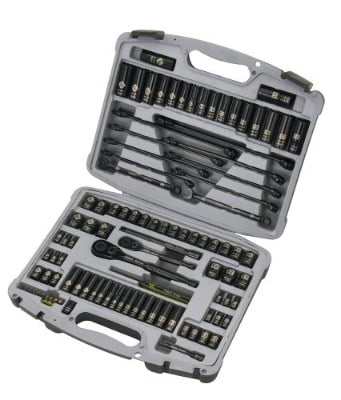 Stanley 92-839 Laser Etched Black Chrome Socket Set, 99-Piece