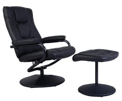 Giantex Recliner Swivel Chair, Black