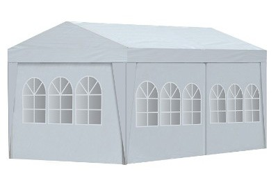 ALEKO Portable Garage Carport Car Shelter Canopy, 20 x 10 ft, White