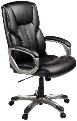 AmazonBasics High-Back Executive Office Chair – Black