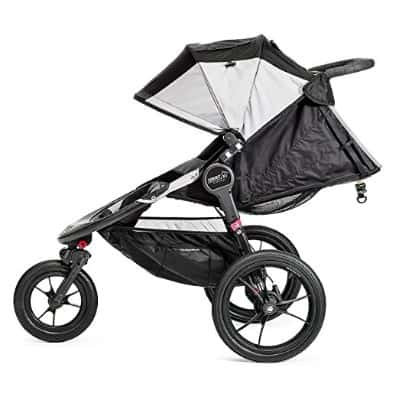Baby Jogger Summit X3 Single Jogging Stroller 2016 -Gray: Black