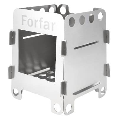 Forfar Stainless Steel Portable Folding Wood Alcohol Stove