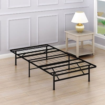 SimpleHouseware 14-Inch Foundation Platform Bed Frame, Twin Size Mattress