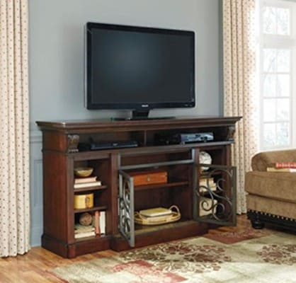 Alymere TV Stand with Electric Fireplace