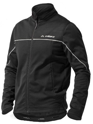 INBIKE Windproof Thermal Cycling Jacket for Men, Black
