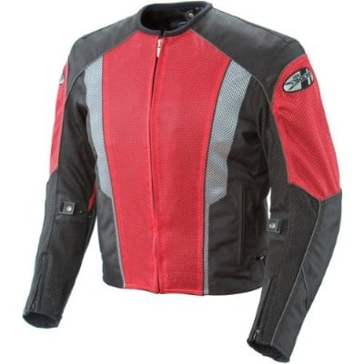 Joe Rocket Phoenix 5.0 Mesh Motorcycle Riding Jacket for Men (Small, Red:Black)