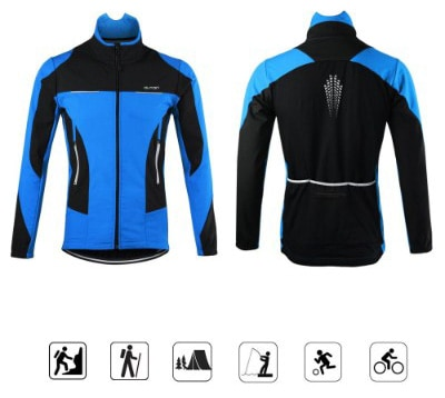 OUTON Men's Windproof Breathable Cycling Jacket, Blue