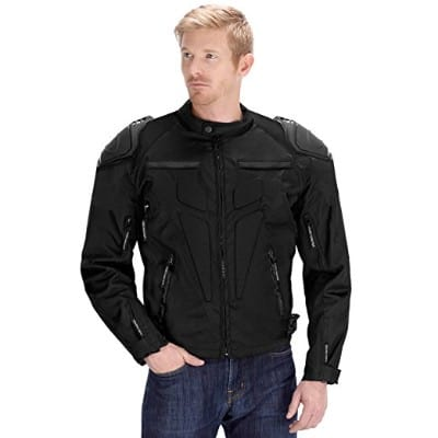 Viking Cycle Motorcycle Jacket for Men (Large, Black)