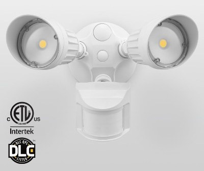 LEONLITE 20W Dual-Head Motion-Activated Outdoor Security Light