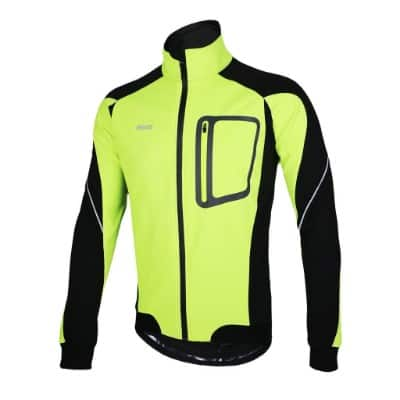 ARSUXEO Winter Thermal Fleece Cycling Jacket 14D, Green