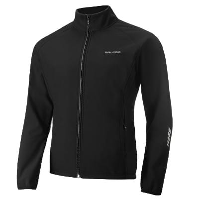 Baleaf Windproof Thermal Softshell Cycling Jacket for Men, Black