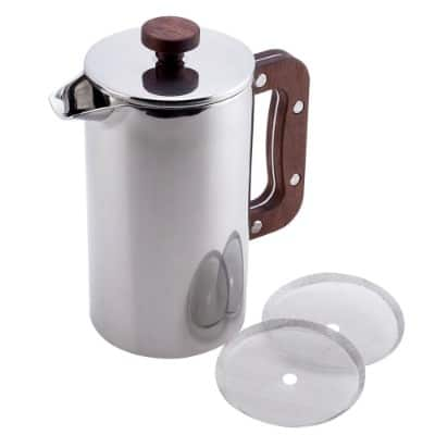 Meelio French Press Coffee Maker, 1 Liter with Bonus 2 Filter Screen