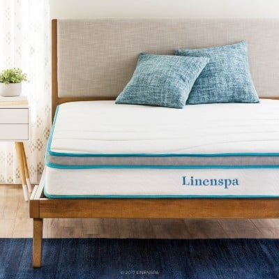 Linenspa Memory Foam Hybrid Mattress, 8-Inch, Full
