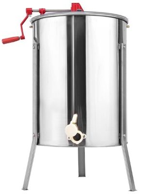 Goplus Stainless Steel Large 4-8 Frame Honey Extractor Manual Beekeeping Equipment New
