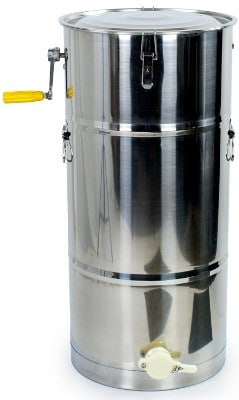 New Two 2 Frame Stainless Steel Bee Manual Crank Honey Extractor