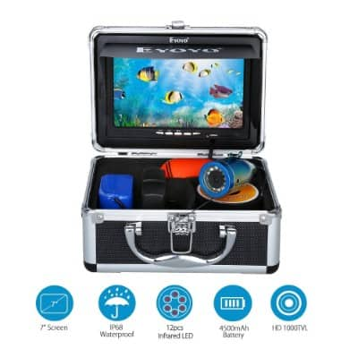 Eyoyo Portable 7 inch LCD Monitor Underwater and Camera