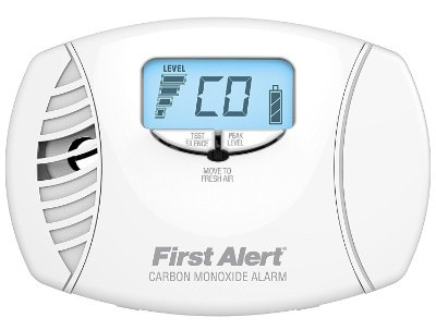 First Alert CO615 Dual-Power Carbon Monoxide Detectors with Digital Display