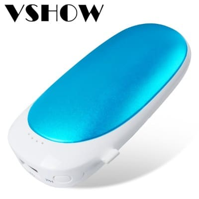 Hand Warmer & Power Bank, Vshow Baby Dolphin Pocket Warmer Double-Side Heat, 5200mAh