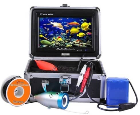 Anysum Professional Underwater Fish Finder, 15M Cable with Carrying Case