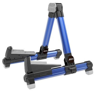 Aroma Aluminum Floor Stand Blue AGS8 Adjustable for All Types of Guitars