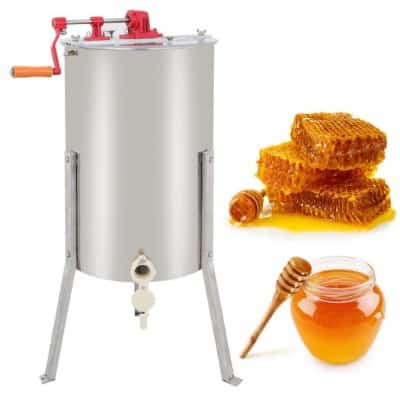 ZENY Pro 2 Frame Stainless Steel Manual Crank Bee Honey Extractor