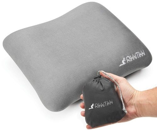 RikkiTikki Inflatable Travel Pillow - Camping Outdoor Backpacking Pillow