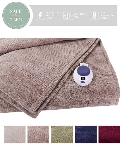 SoftHeat by Perfect Fit - Ultra Soft Plush Electric Heated Warming Blanket