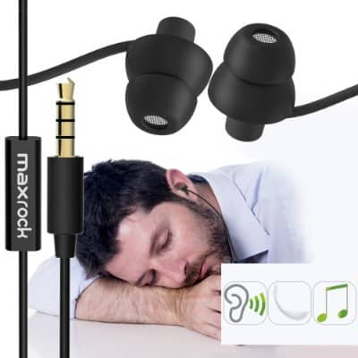 MAXROCK (TM) Unique Total Soft Silicon Super Comfortable Sleeping Headphones