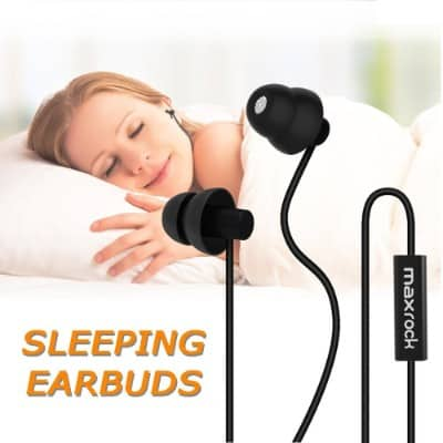 MAXROCK Sleep Earplugs - Noise Isolating Ear Plugs Sleep Earbuds Headphones