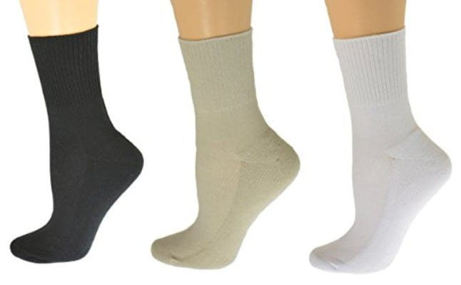 Sierra Socks Diabetic Arthritic Womens Ankle Cushioned Sole Smooth Toe 3 Pair Pack