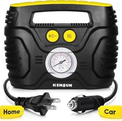Kensun AC:DC Swift Performance Portable Air Compressor Tire Inflator