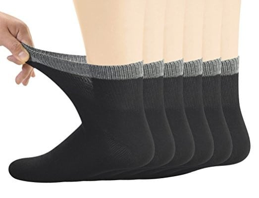 Yomandamor Men's Bamboo Diabetic Ankle Socks