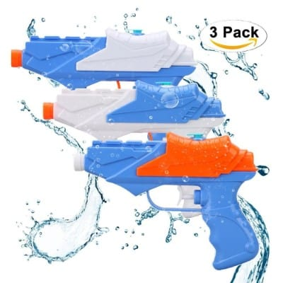Kids Water Guns, SONi Water Pistol 3 Packs Squirt Gun