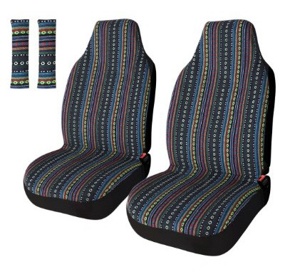 Copap Universal Stripe Colorful 4pc Front Seat Covers