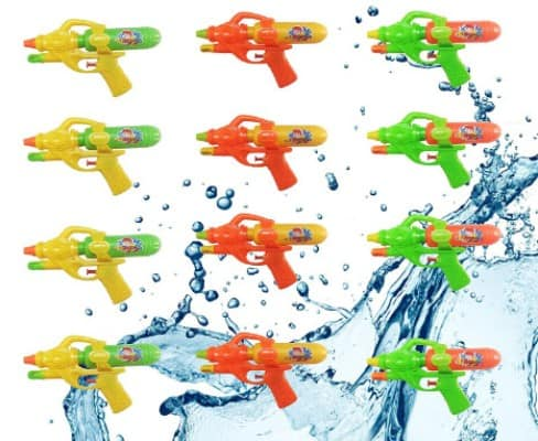 12 Pack Assorted Water Guns,Sizes 8.5 Inches